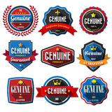 Set of retro vintage badges and labels. Royalty Free Stock Photo