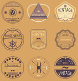 Set of retro vintage badges, ribbons and labels hipster. Set of retro vintage badges, ribbons and labels  hipster Royalty Free Stock Photography