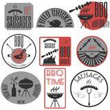Set retro vintage badges, ribbons and labels hipster signboard. Bbg Stock Photography