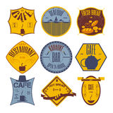 Set retro vintage badges, ribbons and labels hipster signboard Royalty Free Stock Images