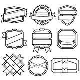 Set of retro vintage badges, ribbons and labels Stock Image