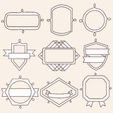 Set of retro vintage badges, ribbons and labels Royalty Free Stock Images