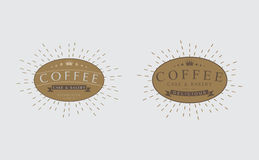 Set Of Retro Vintage Coffee badges, logos,  labels, Stock Photography