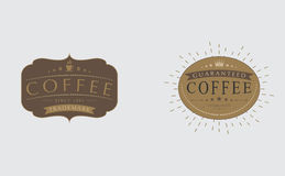 Set Of Retro Vintage Coffee badges, logos,  labels, Royalty Free Stock Photos