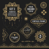 Set of retro vintage graphic design elements Royalty Free Stock Images