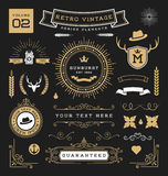 Set of retro vintage graphic design elements Royalty Free Stock Photography