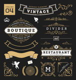 Set of retro vintage graphic design elements Royalty Free Stock Photos