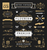 Set of retro vintage graphic design elements