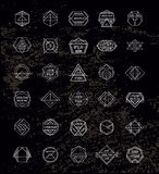Set of Retro Vintage Hipster Insignias and Royalty Free Stock Images