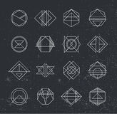 Set of Retro Vintage Hipster Insignias and Logotypes. Business Signs, Logos, Identity Elements, Labels, Badges, Frames, Borders and Other Design Elements Royalty Free Stock Photos