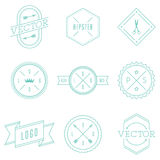 Set of Retro Vintage Hipster Logotypes. Stock Images