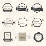 Set of retro vintage icons Stock Images