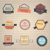 Set of retro vintage icons Royalty Free Stock Photography