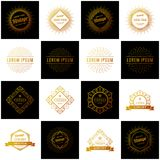 Set of Retro Vintage Insignias or Logotypes. Vector design elements, business signs, logos, identity, labels, badges and objects. Retro Vintage Insignias or royalty free illustration