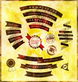 Set of retro vintage labels and ribbon Stock Images