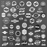 Set of retro vintage labels  and  ribbons Stock Photos