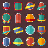 Set of retro vintage labels, signs and badges Royalty Free Stock Image