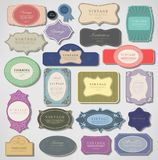 Set of retro vintage labels. Vector illustration. Royalty Free Stock Photography