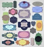 Set of retro vintage labels. Vector illustration. Royalty Free Stock Images