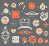 Set of retro vintage labels. Vector illustration. Stock Photo