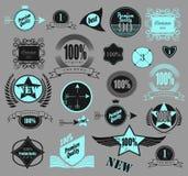 Set of retro vintage labels. Vector illustration. Stock Images