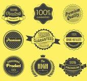 Set of retro vintage labels. Vector illustration. Stock Photo