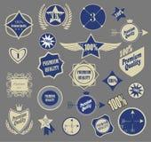 Set of retro vintage labels. Vector illustration. Stock Image