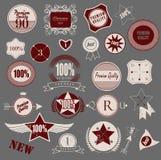 Set of retro vintage labels. Vector illustration. Stock Photography