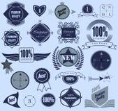 Set of retro vintage labels. Vector illustration. Royalty Free Stock Images