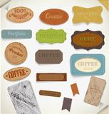 Set of retro vintage labels. Vector illustration. Royalty Free Stock Photos