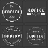 Set of retro-vintage premium coffee background Royalty Free Stock Photography