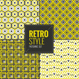 Set of Retro vintage seamless patterns set vector illustration Royalty Free Stock Image