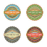 Set of retro vintage style logo banner label. In various colors Royalty Free Stock Image