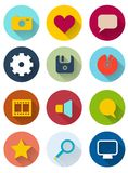 Set of retro web icons Royalty Free Stock Photography