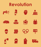 Set of revolution simple icons Royalty Free Stock Photography