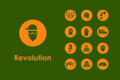 Set of revolution simple icons Stock Photo