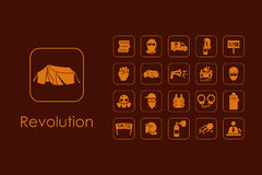 Set of revolution simple icons Stock Photos