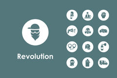 Set of revolution simple icons Royalty Free Stock Photo