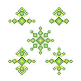 Set rhombus logo Stock Image
