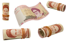 Set of rial banknotes Stock Photo