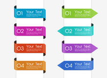 Set of ribbon banners Royalty Free Stock Photography