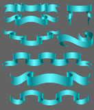 Set of ribbon blue Royalty Free Stock Images