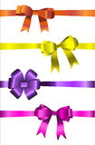 The set of ribbon bow Royalty Free Stock Photography