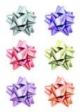 Set of ribbon bows. Stock Images