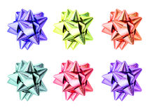 Set of ribbon bows. Stock Image