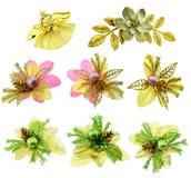 Set of ribbon christmas bows. Stock Photography