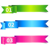 Set of Ribbon Label with Number Stock Photography
