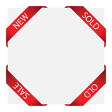 Set of ribbon labels stock photos