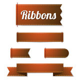Set of ribbon labels Royalty Free Stock Photos