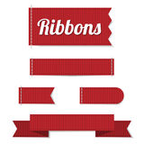 Set of ribbon labels Stock Images